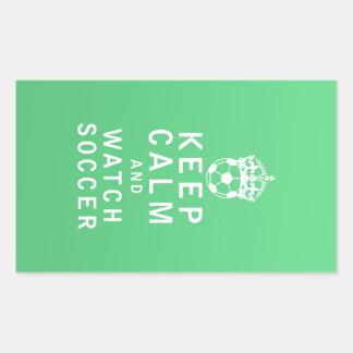 Keep Calm and Watch Soccer Rectangular Sticker