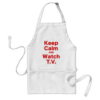 Keep Calm and Watch TV Adult Apron
