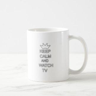 Keep calm and watch TV Coffee Mug