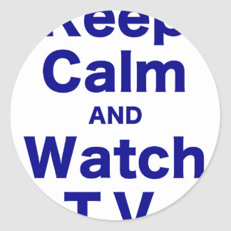 Keep Calm and Watch TV Stickers