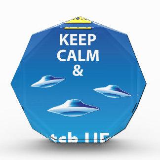 Keep Calm and Watch UFOs vector Award