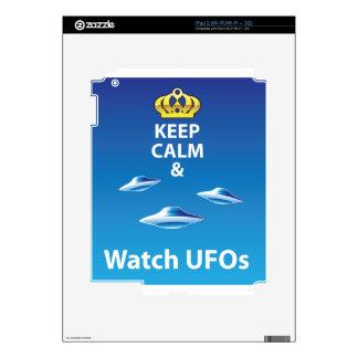 Keep Calm and Watch UFOs vector iPad 2 Decals