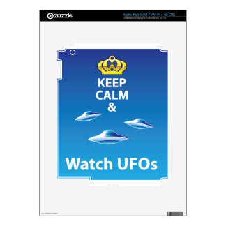 Keep Calm and Watch UFOs vector iPad 3 Decals