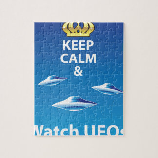 Keep Calm and Watch UFOs vector Jigsaw Puzzle