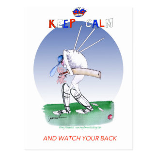 keep calm and watch your back, tony fernandes postcard