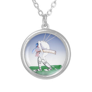 keep calm and watch your back, tony fernandes silver plated necklace
