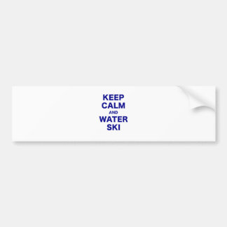 Keep Calm and Water Ski Bumper Sticker