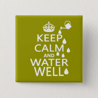 Keep Calm and Water Well Button