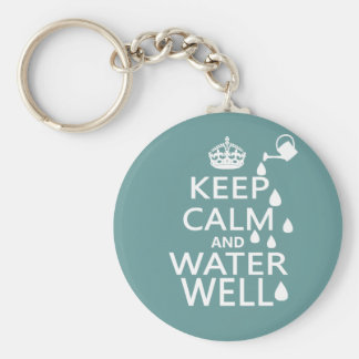 Keep Calm and Water Well Keychain