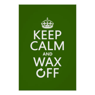 Keep Calm and Wax Off (any background color) Poster