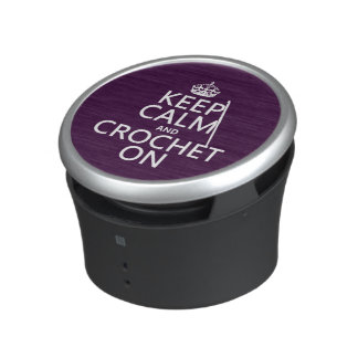 Keep Calm and Wax On (any background color) Bluetooth Speaker
