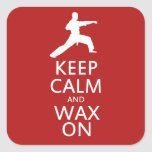 Keep Calm and Wax On Sticker