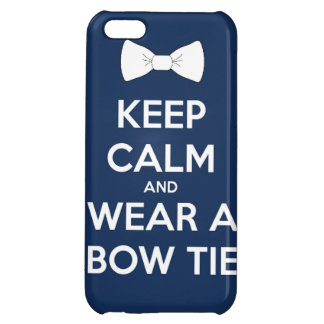 Keep calm and wear  bow tie funny doctor dress tux iPhone 5C cases