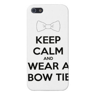 Keep calm and wear  bow tie funny doctor dress tux iPhone SE/5/5s cover