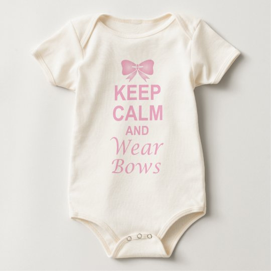 Keep Calm and Wear Bows Baby Bodysuit