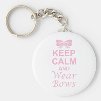 Keep Calm and Wear Bows Basic Round Button Keychain