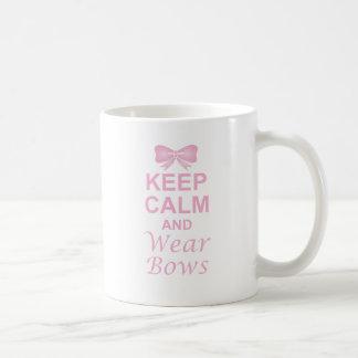 Keep Calm and Wear Bows Coffee Mug