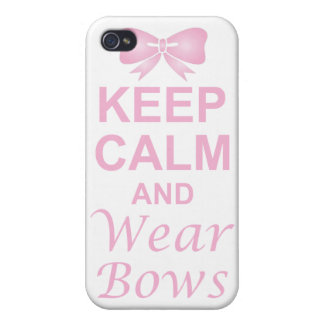 Keep Calm and Wear Bows iPhone 4/4S Covers