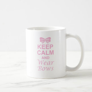 Keep Calm and Wear Bows Mugs