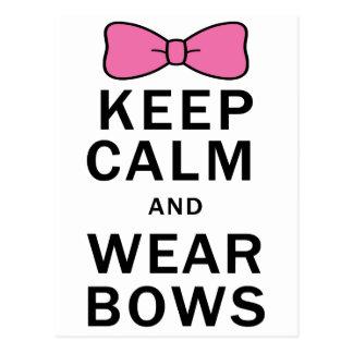 Keep Calm and Wear Bows Postcard