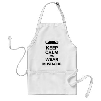 Keep calm and wear Mustache Apron