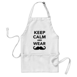 Keep calm and wear Mustache Aprons