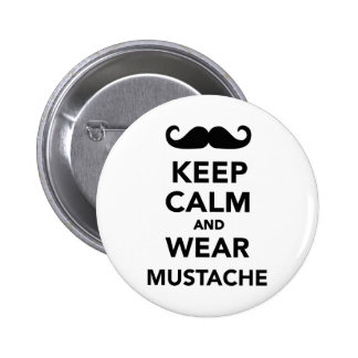 Keep calm and wear Mustache Pin