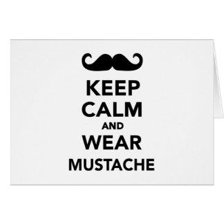 Keep calm and wear Mustache Card