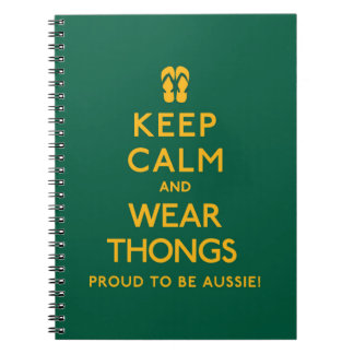 Keep Calm and Wear Thongs! Notebook