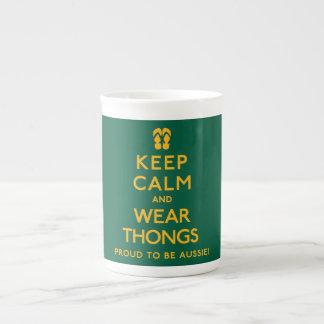 Keep Calm and Wear Thongs! Tea Cup