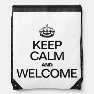 KEEP CALM AND WELCOME BACKPACKS