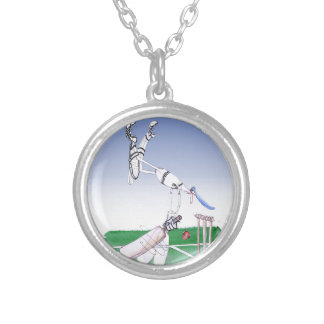 keep calm and well grounded, tony fernandes silver plated necklace