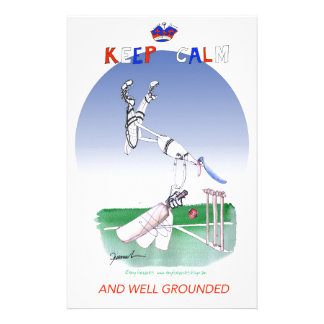 keep calm and well grounded, tony fernandes stationery