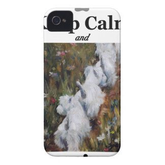Keep Calm and Westie On, west highland terrier Case-Mate iPhone 4 Case