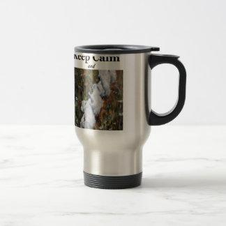 Keep Calm and Westie On, west highland terrier Travel Mug