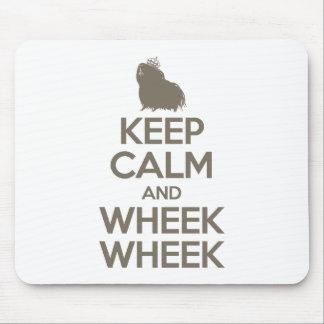 Keep Calm and Wheek Wheek Mouse Pads