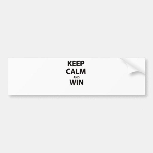 Keep Calm and Win Bumper Sticker