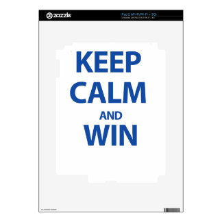 Keep Calm and Win Decal For iPad 2