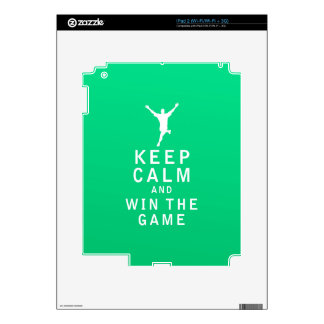 Keep Calm and Win The Game Decal For The iPad 2
