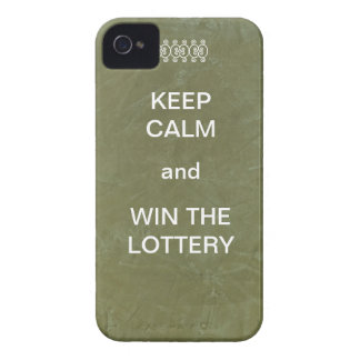 Keep Calm and Win The Lottery iPhone 4 Case-Mate Cases