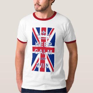 Keep Calm and Win Union Jack Tee Shirt