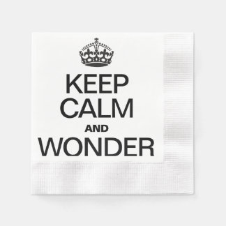 KEEP CALM AND WONDER PAPER NAPKINS