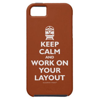Keep Calm And Work On Your Layout - Trains iPhone SE/5/5s Case