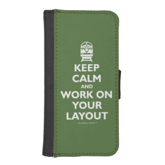 Keep Calm And Work On Your Layout - Trains Wallet Phone Case For iPhone SE/5/5s