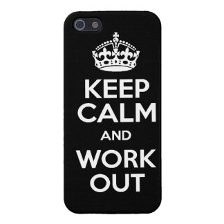 KEEP calm and work out exercise lift running weigh Case For iPhone SE/5/5s
