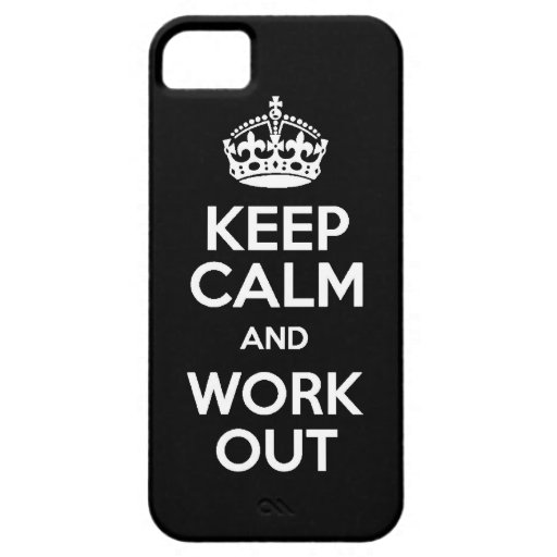 KEEP calm and work out exercise lift running weigh iPhone 5 Case