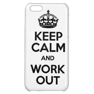 KEEP calm and work out exercise lift running weigh iPhone 5C Covers