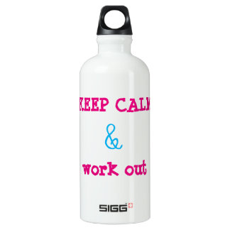 Keep calm and work out SIGG traveler 0.6L water bottle