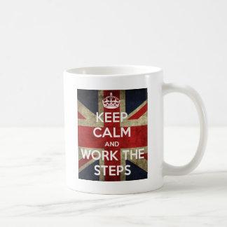 Keep Calm and Work the Steps V2 Classic White Coffee Mug