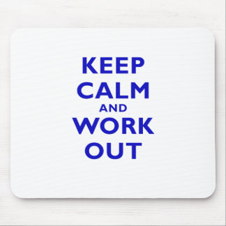 Keep Calm and Workout Mouse Pad
